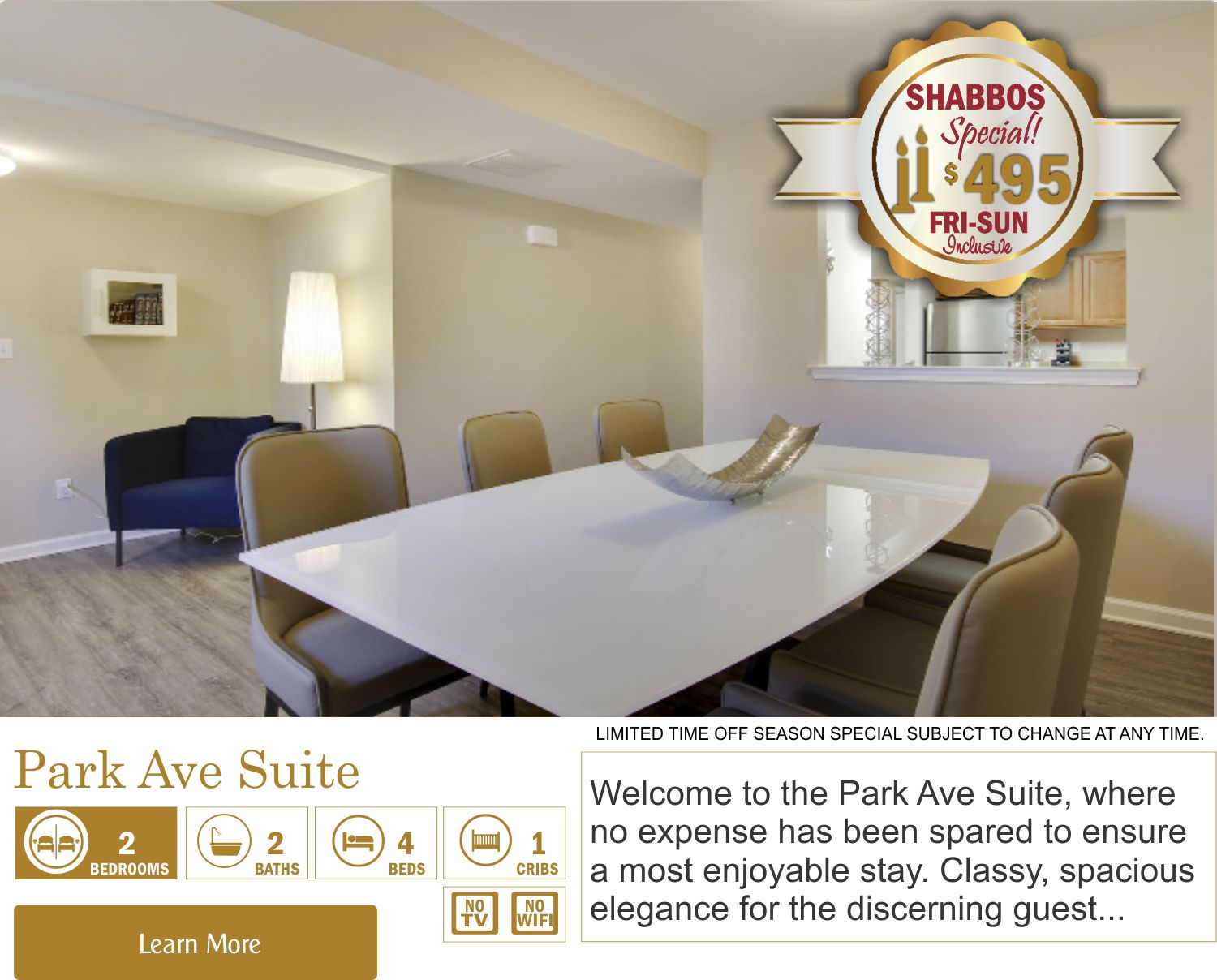 Lakewood Shabbos Getaway Specials In Your Own Private Villa